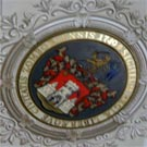 Arms of Sombor on the ceiling of city assembly building