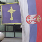 Flags in front of Vračar civic municipality